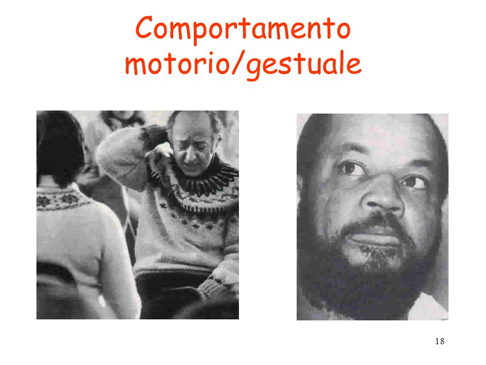 Comportamento motorio/gestuale