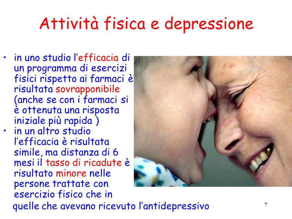 Attività fisica e depressione