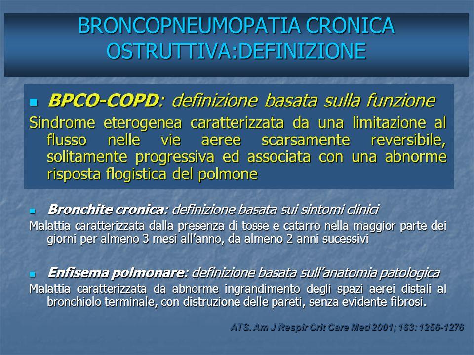 BRONCOPNEUMOPATIA CRONICA OSTRUTTIVA:DEFINIZIONE