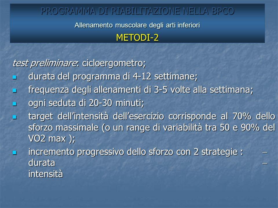 PROGRAMMA DI RIABILITAZIONE NELLA BPCO METODI-2