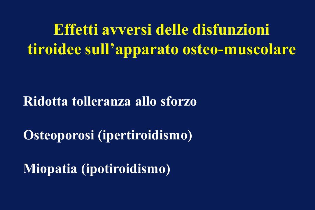 Effetti avversi delle disfunzioni tiroidee sull'apparato osteo-muscolare