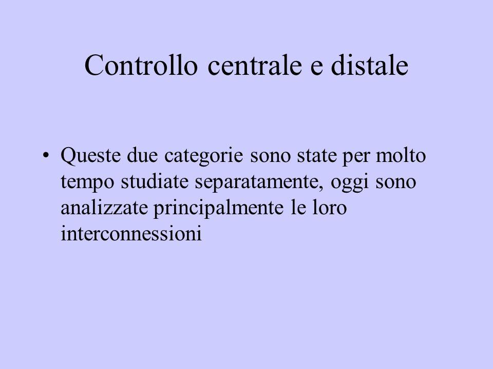 Controllo centrale e distale