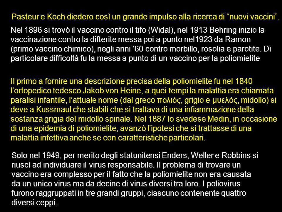 Pasteur e Koch diedero così un grande impulso alla ricerca di nuovi vaccini .