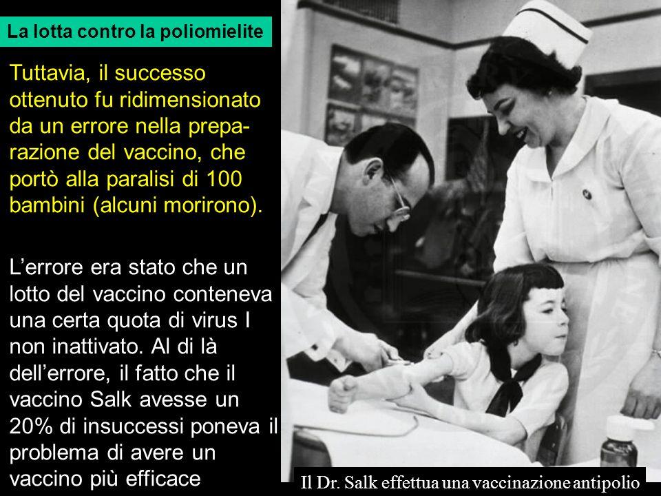 Il Dr. Salk effettua una vaccinazione antipolio