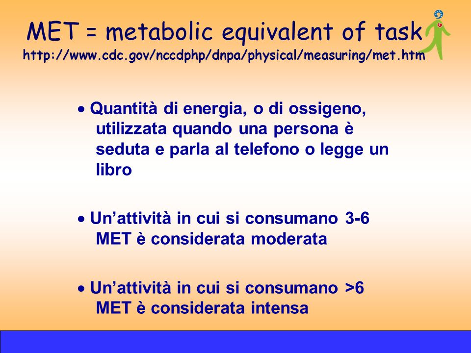 MET = metabolic equivalent of task http://www. cdc