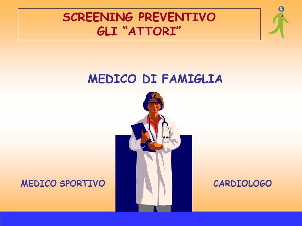 SCREENING PREVENTIVO GLI ATTORI MEDICO DI FAMIGLIA