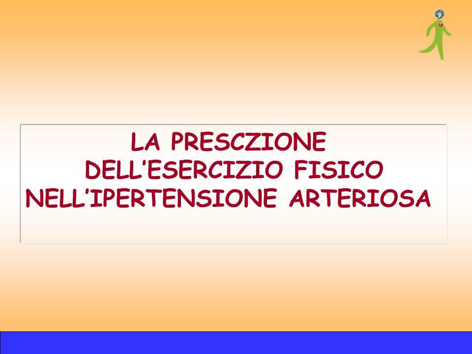 DELL'ESERCIZIO FISICO NELL'IPERTENSIONE ARTERIOSA