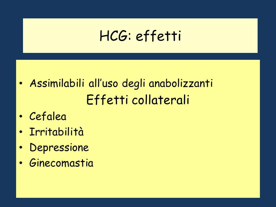 HCG: effetti Effetti collaterali