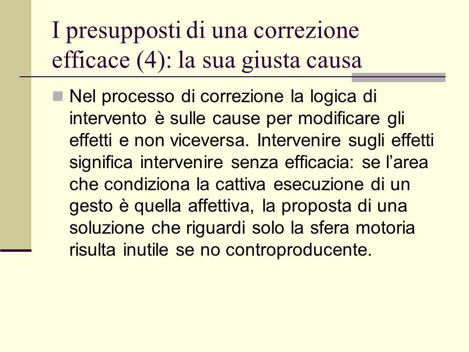 I presupposti di una correzione efficace (4): la sua giusta causa
