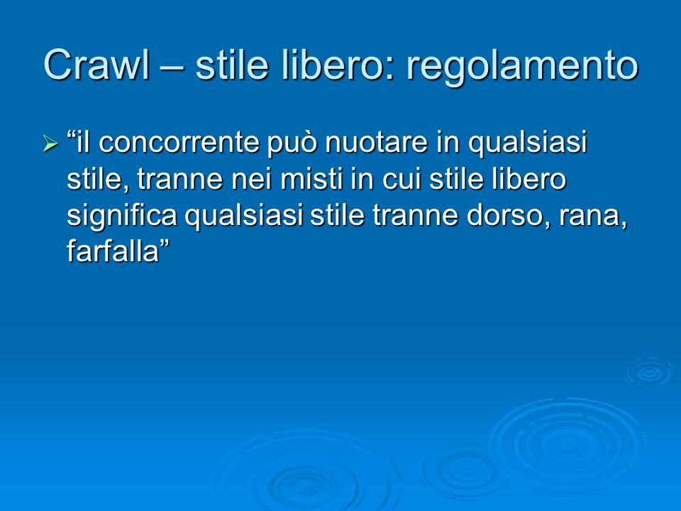 Crawl – stile libero: regolamento