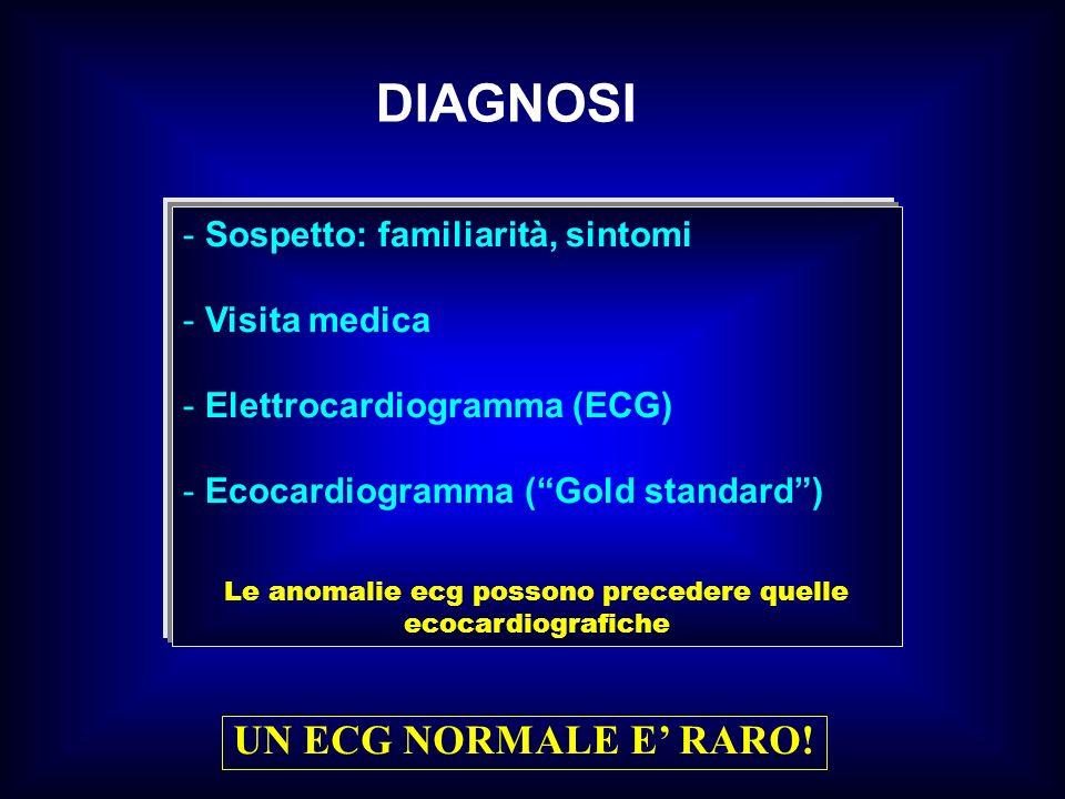 Le anomalie ecg possono precedere quelle ecocardiografiche