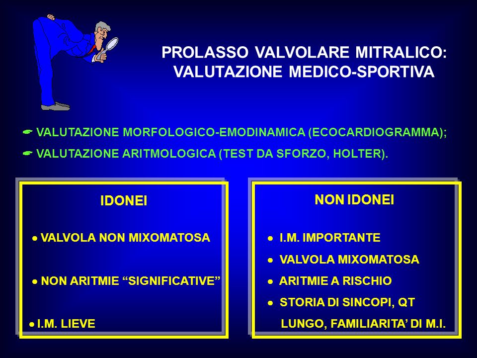 PROLASSO VALVOLARE MITRALICO: VALUTAZIONE MEDICO-SPORTIVA