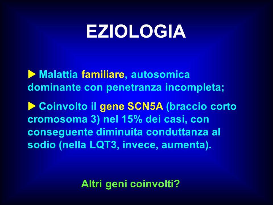 EZIOLOGIA  Malattia familiare, autosomica dominante con penetranza incompleta;