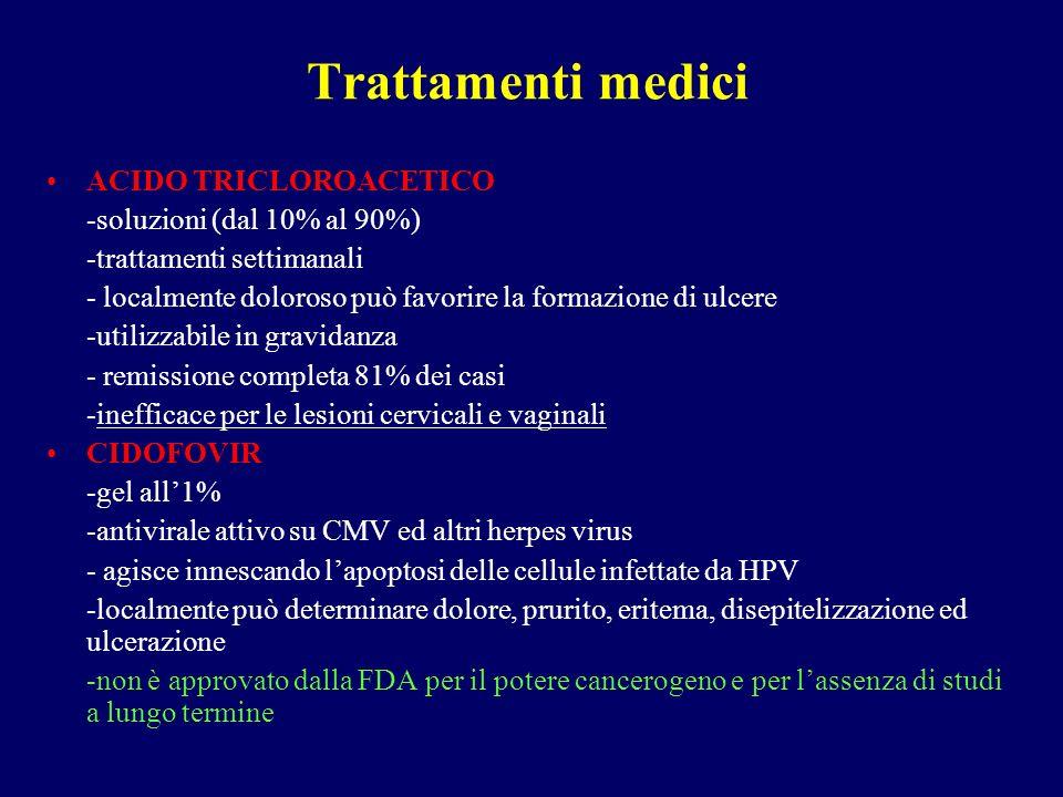 Trattamenti medici ACIDO TRICLOROACETICO -soluzioni (dal 10% al 90%)
