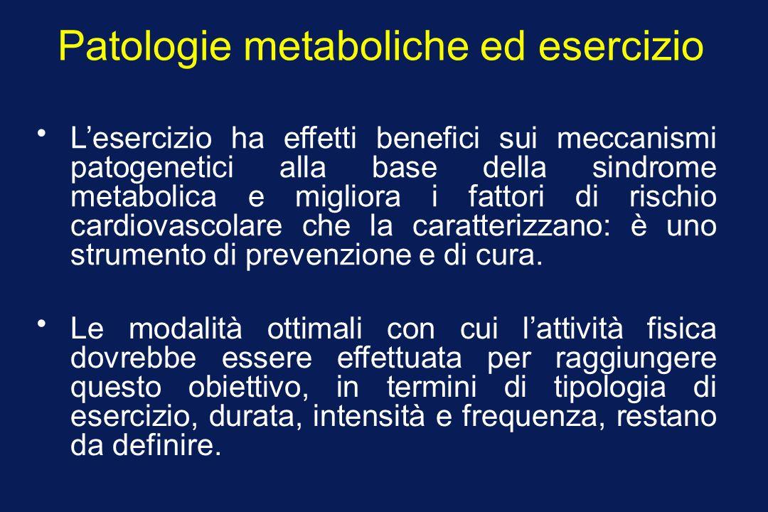 Patologie metaboliche ed esercizio