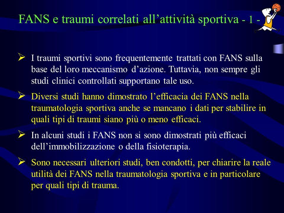 FANS e traumi correlati all'attività sportiva - 1 -