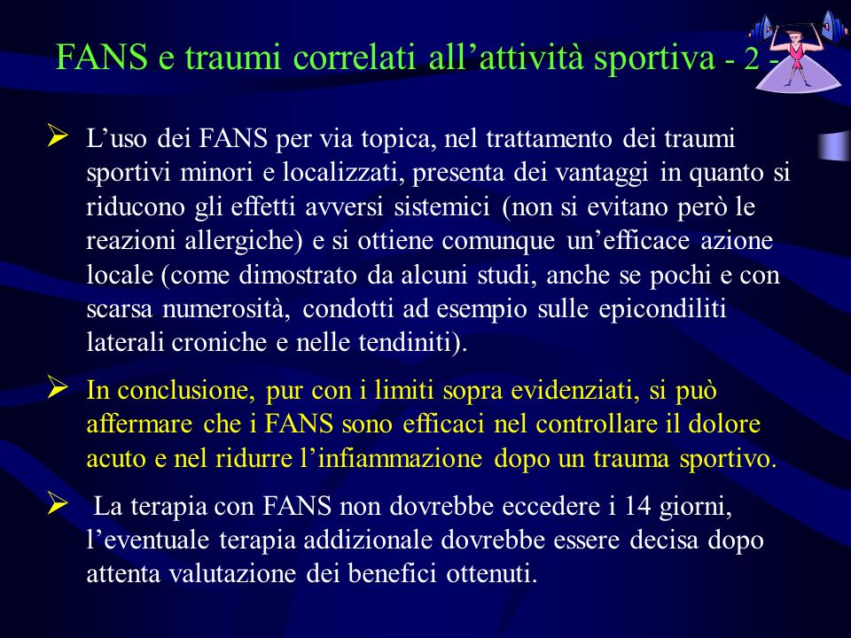FANS e traumi correlati all'attività sportiva - 2 -