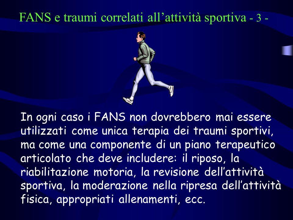 FANS e traumi correlati all'attività sportiva - 3 -