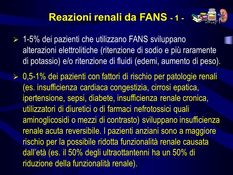 Reazioni renali da FANS - 1 -