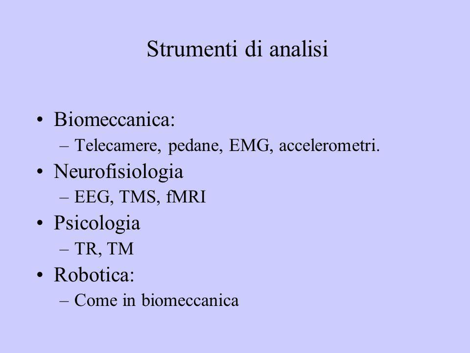 Strumenti di analisi Biomeccanica: Neurofisiologia Psicologia