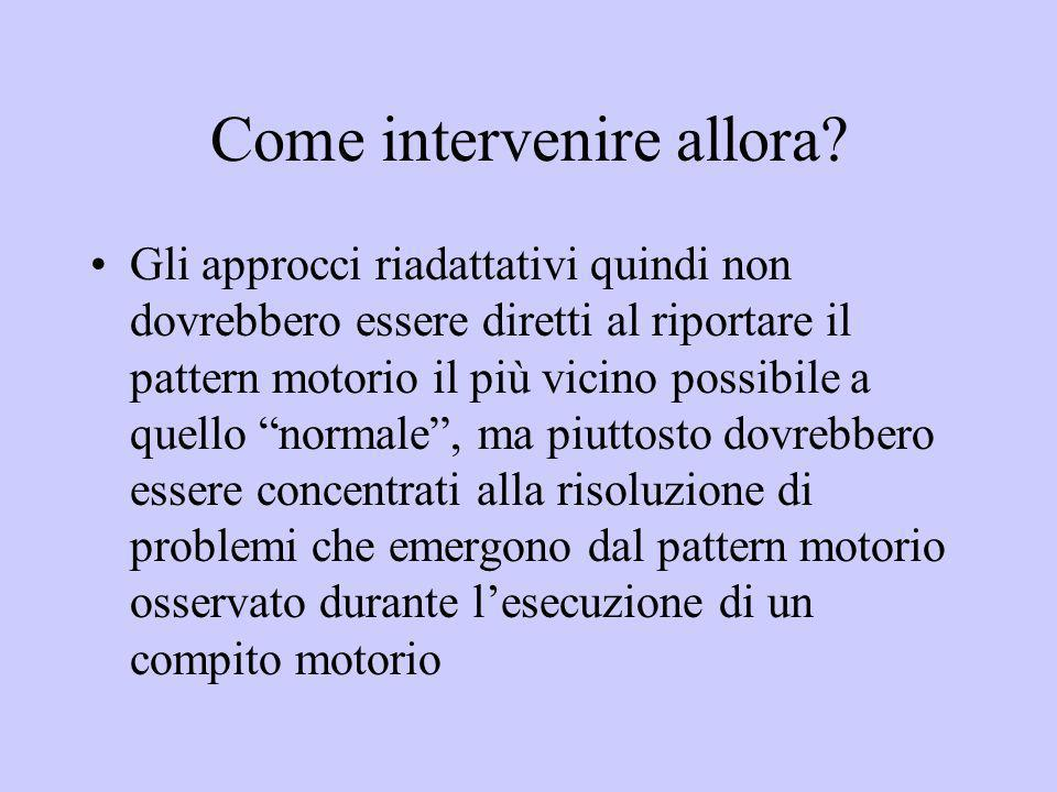 Come intervenire allora