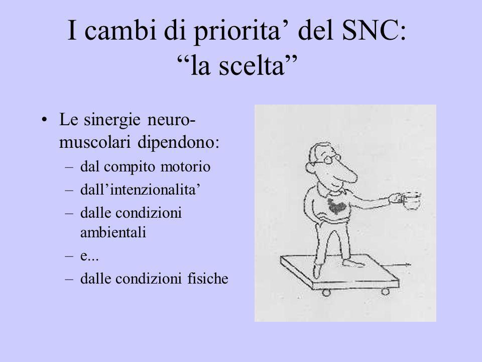 I cambi di priorita' del SNC: la scelta