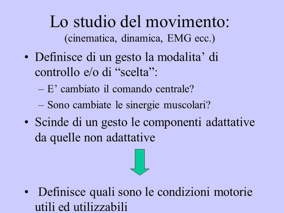 Lo studio del movimento: (cinematica, dinamica, EMG ecc.)
