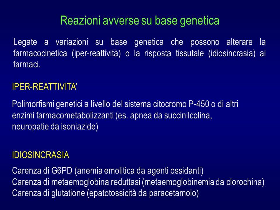 Reazioni avverse su base genetica