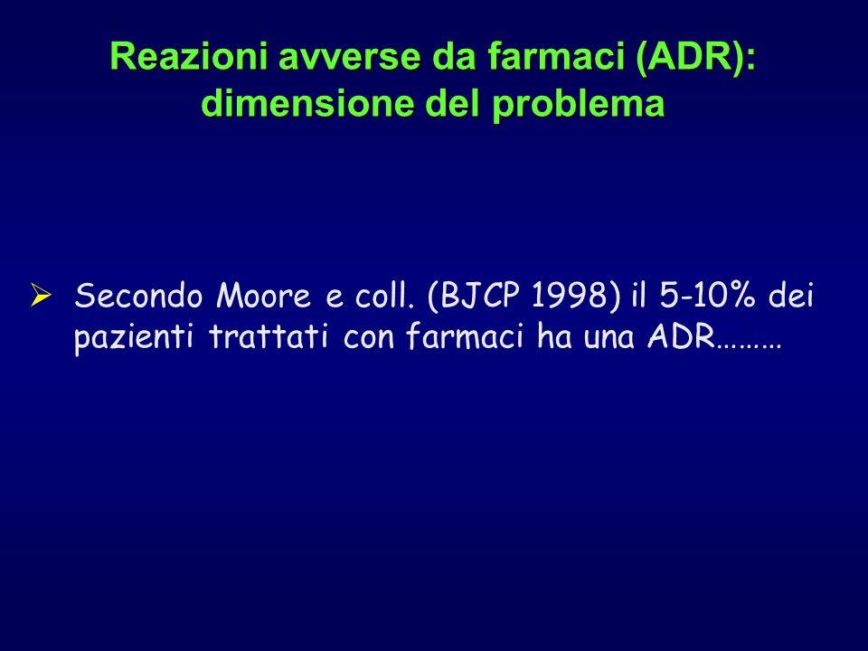 Reazioni avverse da farmaci (ADR): dimensione del problema