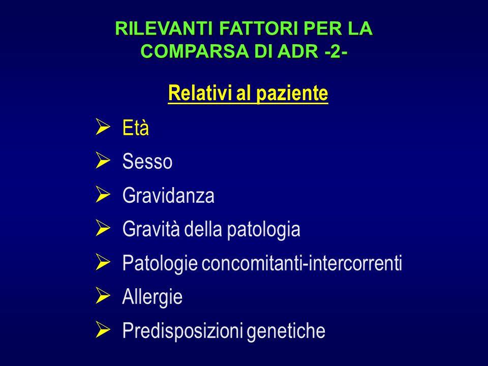 RILEVANTI FATTORI PER LA COMPARSA DI ADR -2-