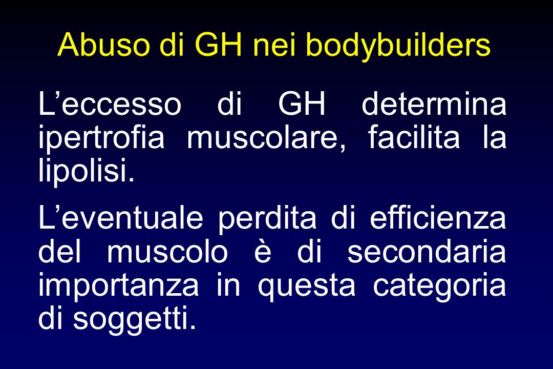 Abuso di GH nei bodybuilders