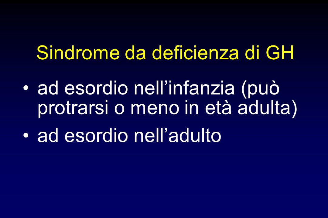 Sindrome da deficienza di GH