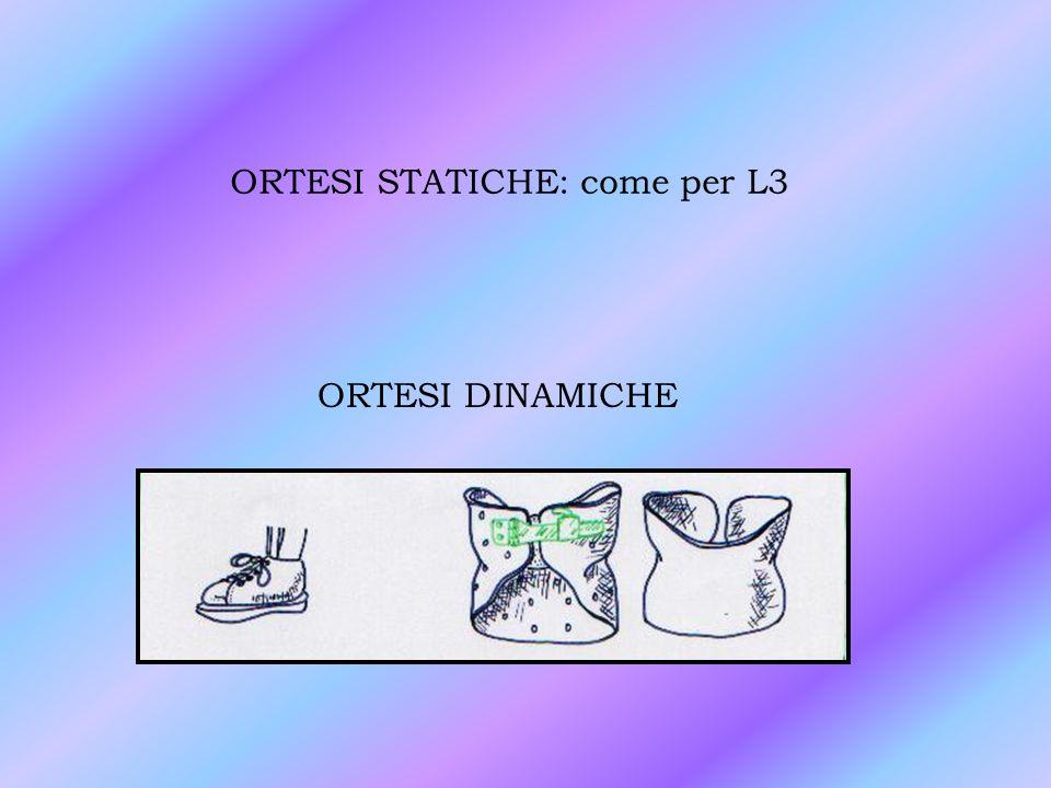 ORTESI STATICHE: come per L3