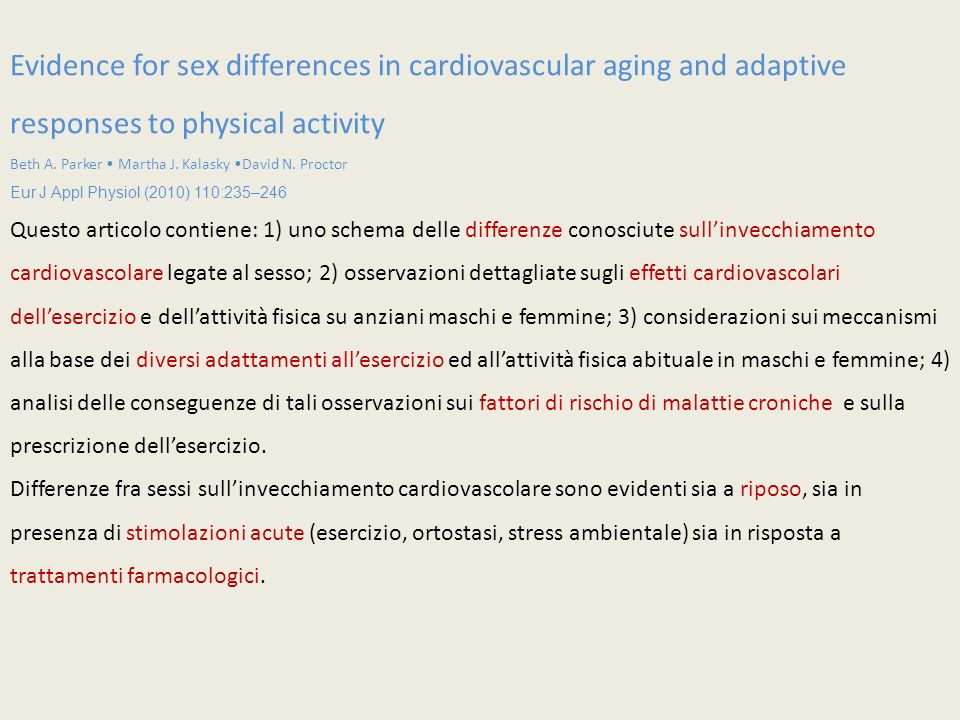 Evidence for sex differences in cardiovascular aging and adaptive