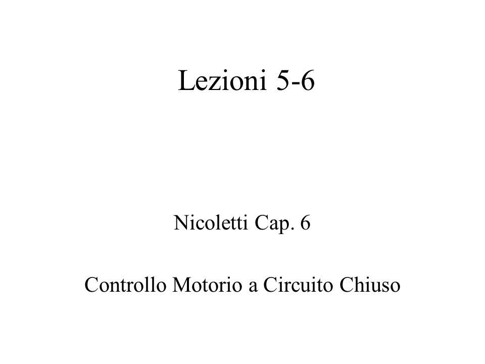 Nicoletti Cap. 6 Controllo Motorio a Circuito Chiuso