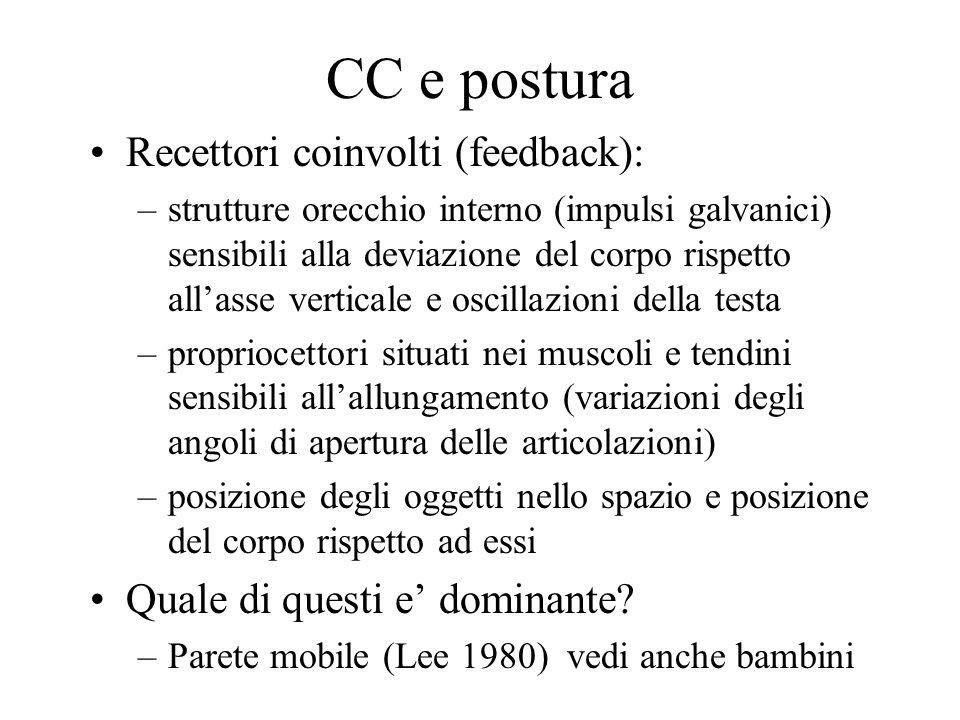 CC e postura Recettori coinvolti (feedback):