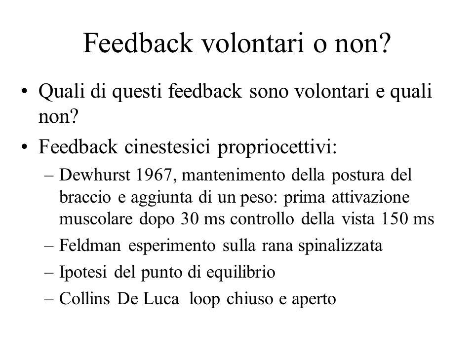Feedback volontari o non