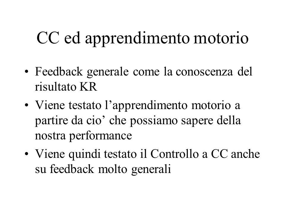 CC ed apprendimento motorio