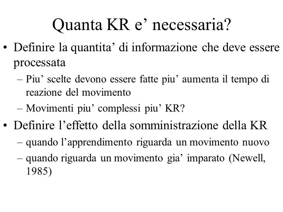 Quanta KR e' necessaria
