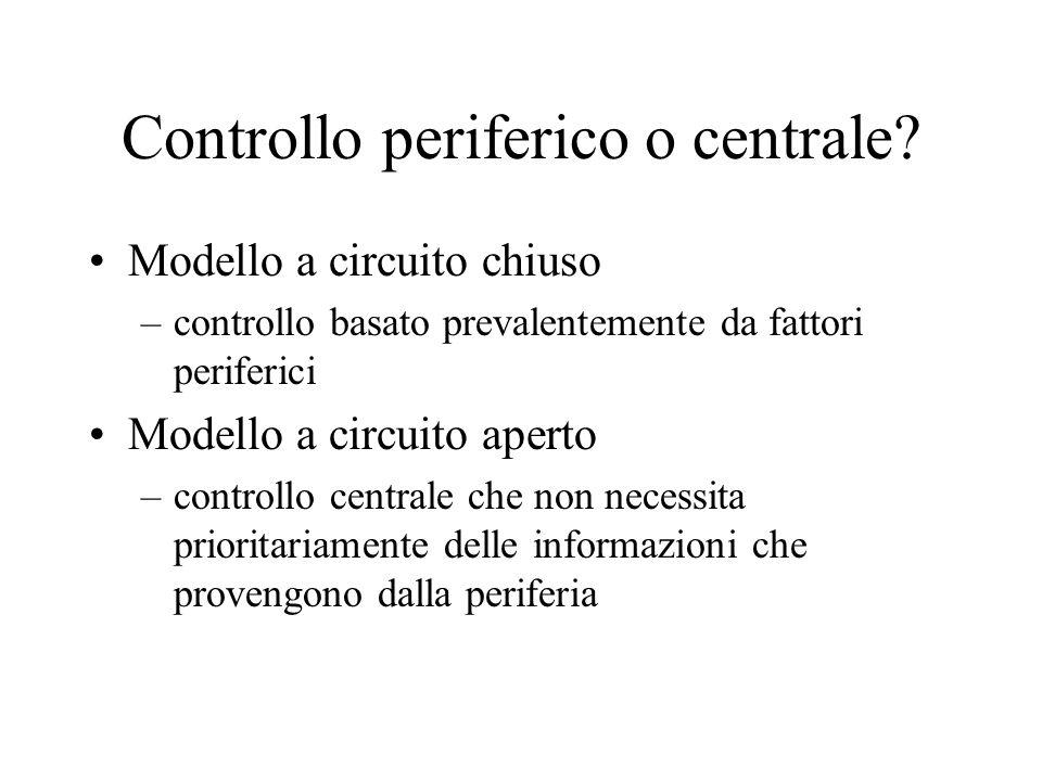 Controllo periferico o centrale