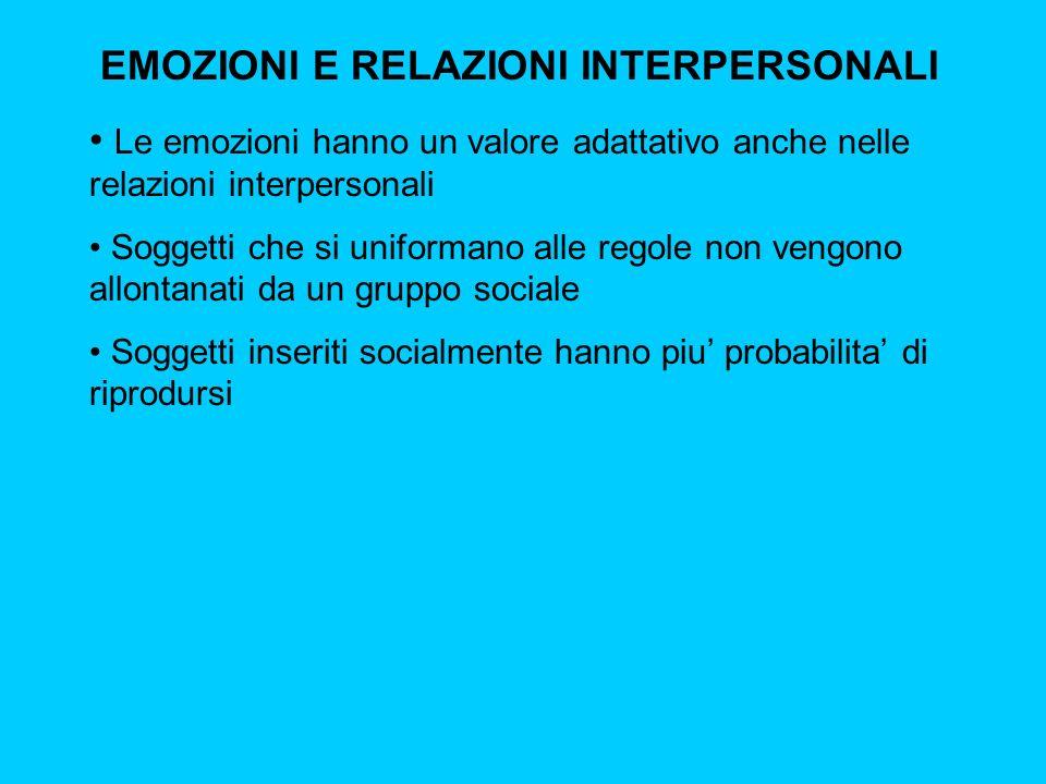 EMOZIONI E RELAZIONI INTERPERSONALI