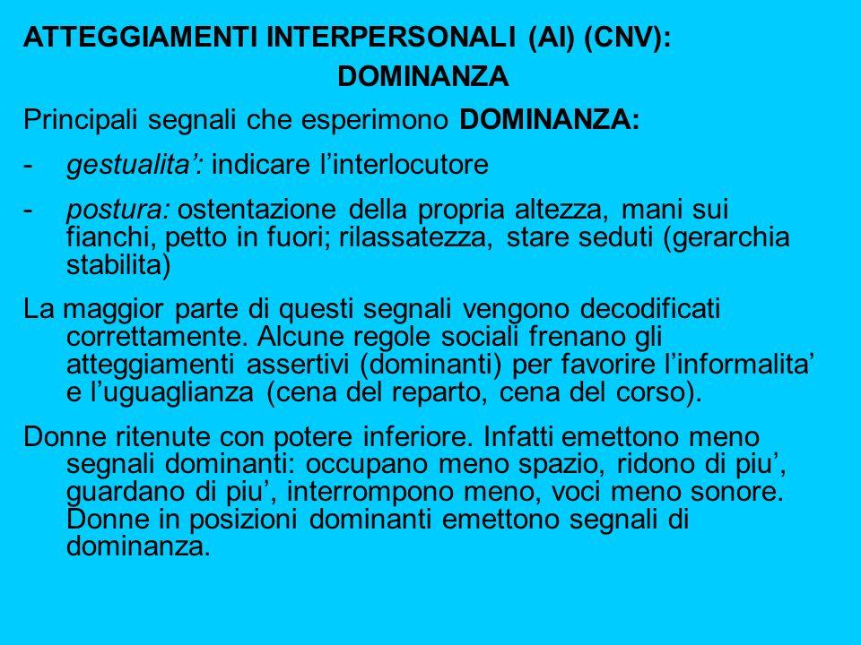 ATTEGGIAMENTI INTERPERSONALI (AI) (CNV):