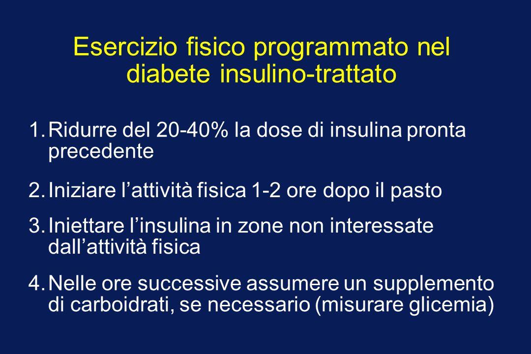 Esercizio fisico programmato nel diabete insulino-trattato