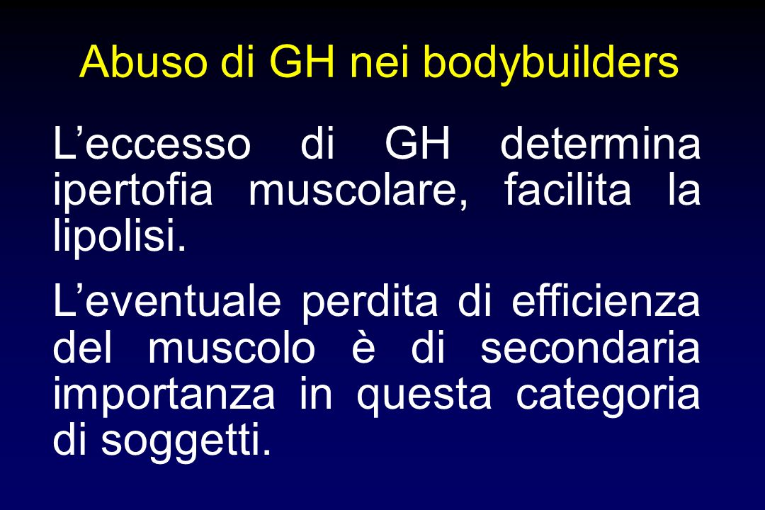 Abuso di GH nei bodybuilders