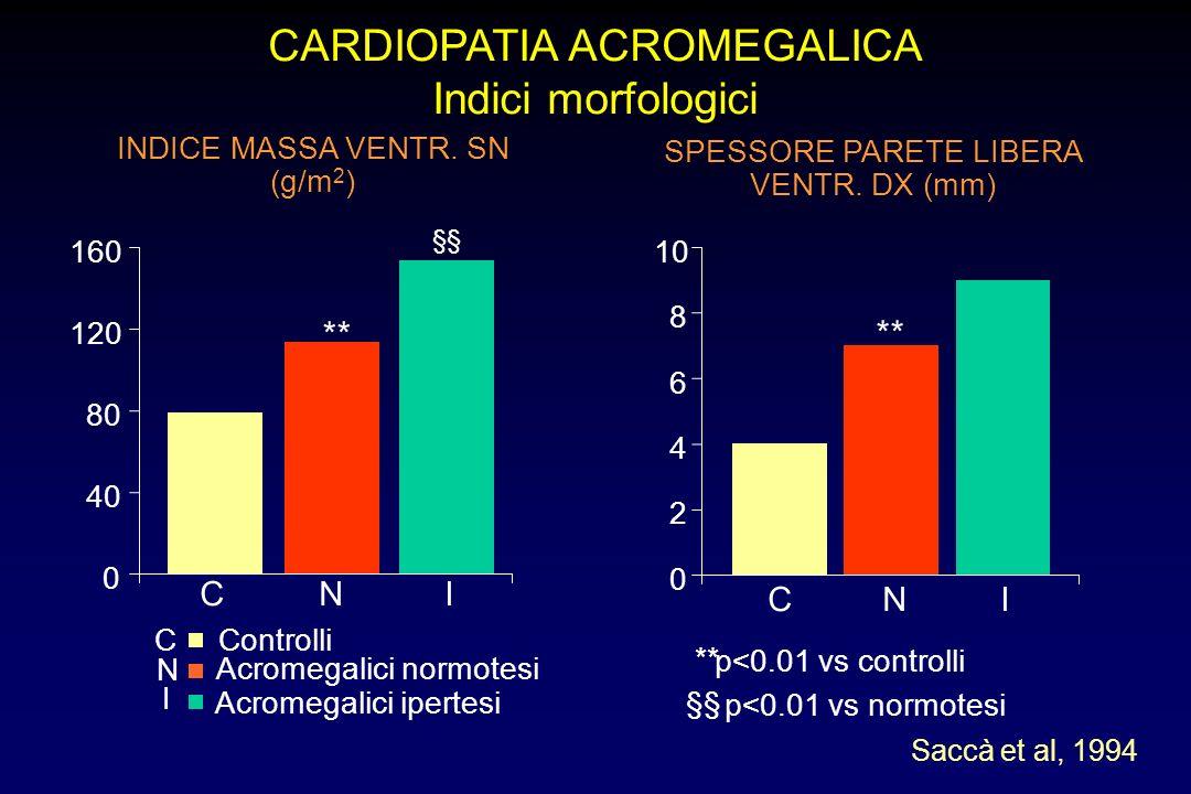 CARDIOPATIA ACROMEGALICA Indici morfologici