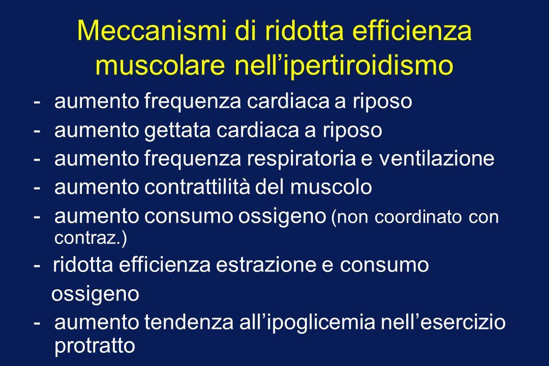 Meccanismi di ridotta efficienza muscolare nell'ipertiroidismo