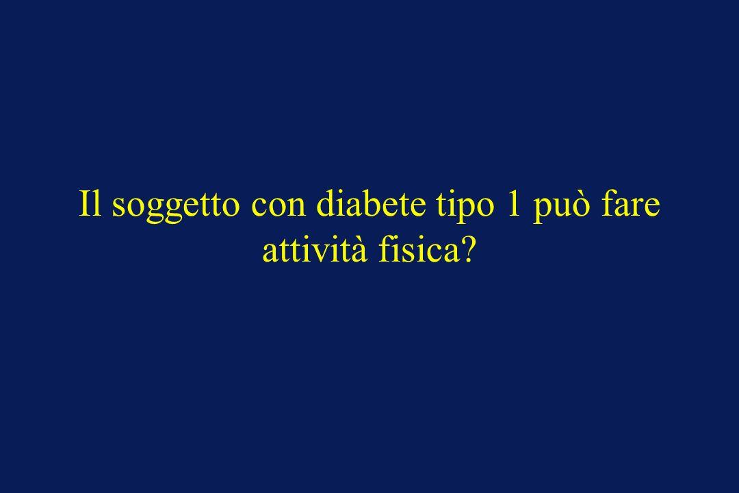 Il soggetto con diabete tipo 1 può fare attività fisica
