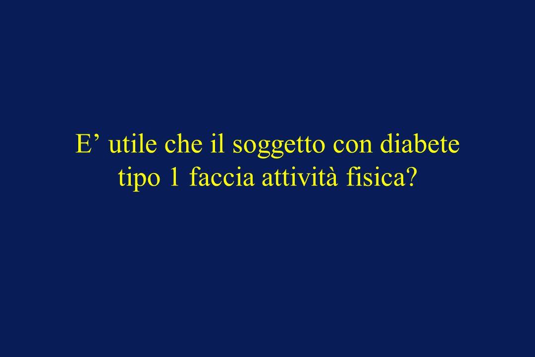 E' utile che il soggetto con diabete tipo 1 faccia attività fisica