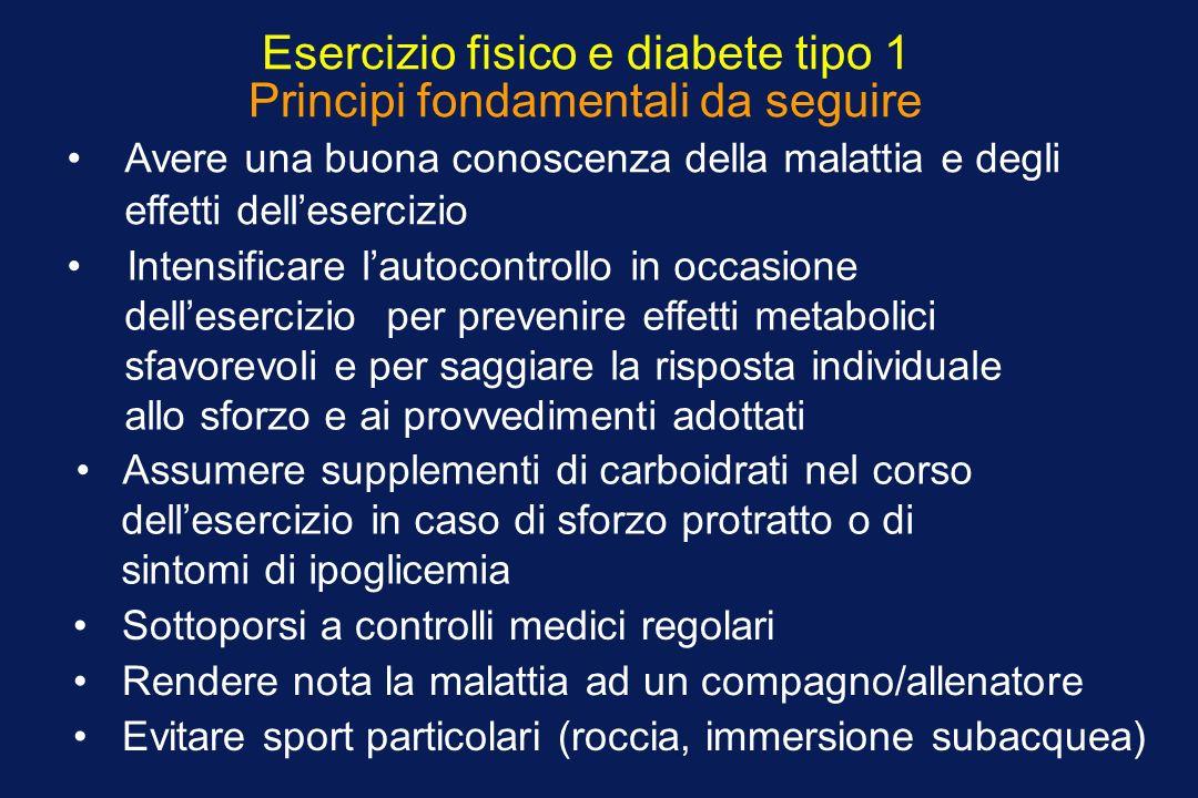 Esercizio fisico e diabete tipo 1 Principi fondamentali da seguire