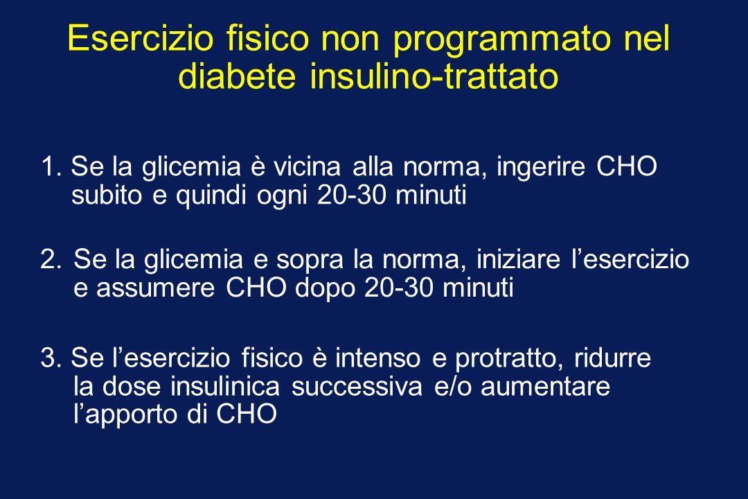 Esercizio fisico non programmato nel diabete insulino-trattato